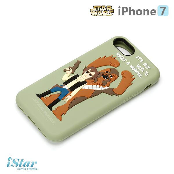【日本 PGA-iJacket】iPhone 7 星際大戰STARWARS 可愛矽膠系列-秋巴卡
