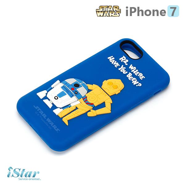 【日本 PGA-iJacket】iPhone 7 星際大戰STARWARS 可愛矽膠系列-R2D2與C-3PO