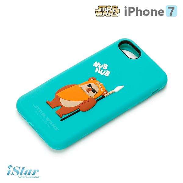 【日本 PGA-iJacket】iPhone 7 星際大戰STARWARS 可愛矽膠系列-依娃族