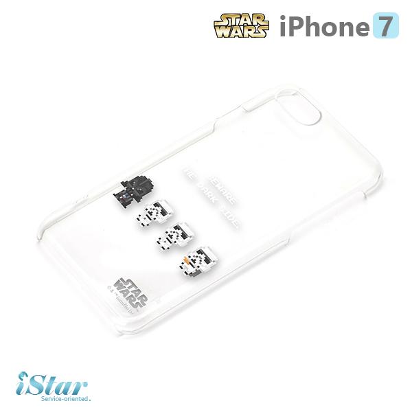 【日本 PGA-iJacket】iPhone 7 星際大戰STARWARS 透明塗鴉硬殼系列-黑武士與帝國軍