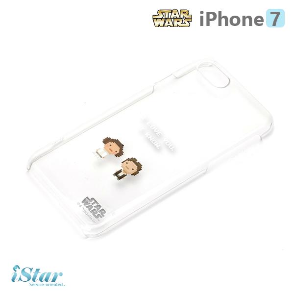 【日本 PGA-iJacket】iPhone 7 星際大戰STARWARS 透明塗鴉硬殼系列-天行者與莉亞公主