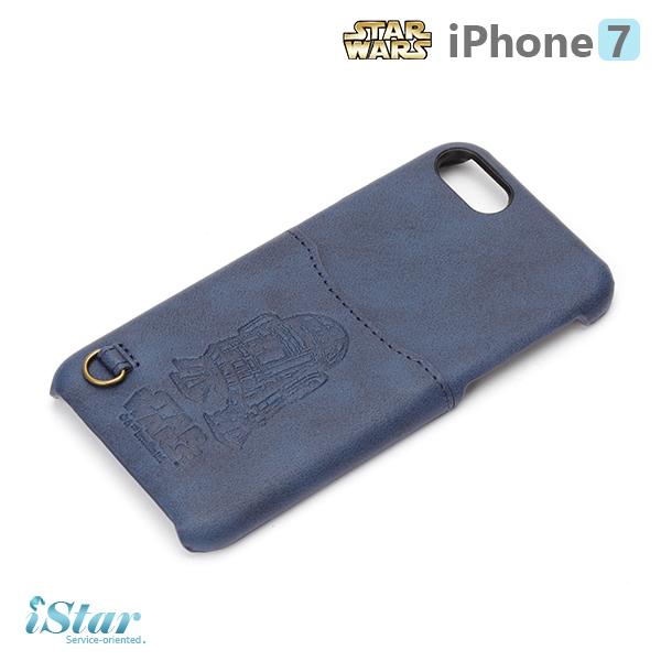 【日本 PGA-iJacket】iPhone 7 星際大戰STARWARS 皮革口袋背蓋系列-C-3PO