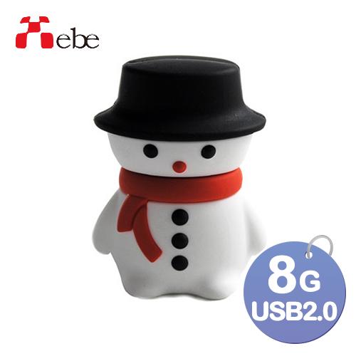 Xebe集比 雪人造型USB8GB, USB 2.0