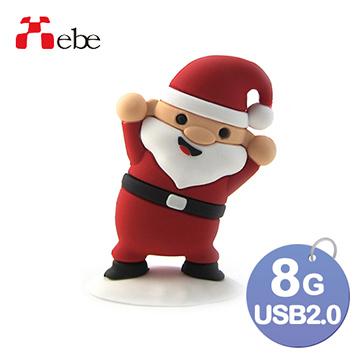 Xebe集比 聖誕老公公造型USB隨身碟 8GB, USB 2.0