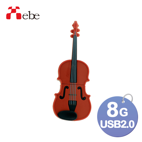 Xebe集比 提琴隨身碟8GB, USB 2.0