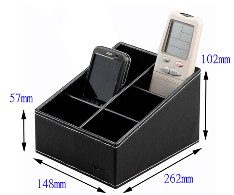 SRH-333 波德徠爾皮質兩層搖控器、手機收納盒