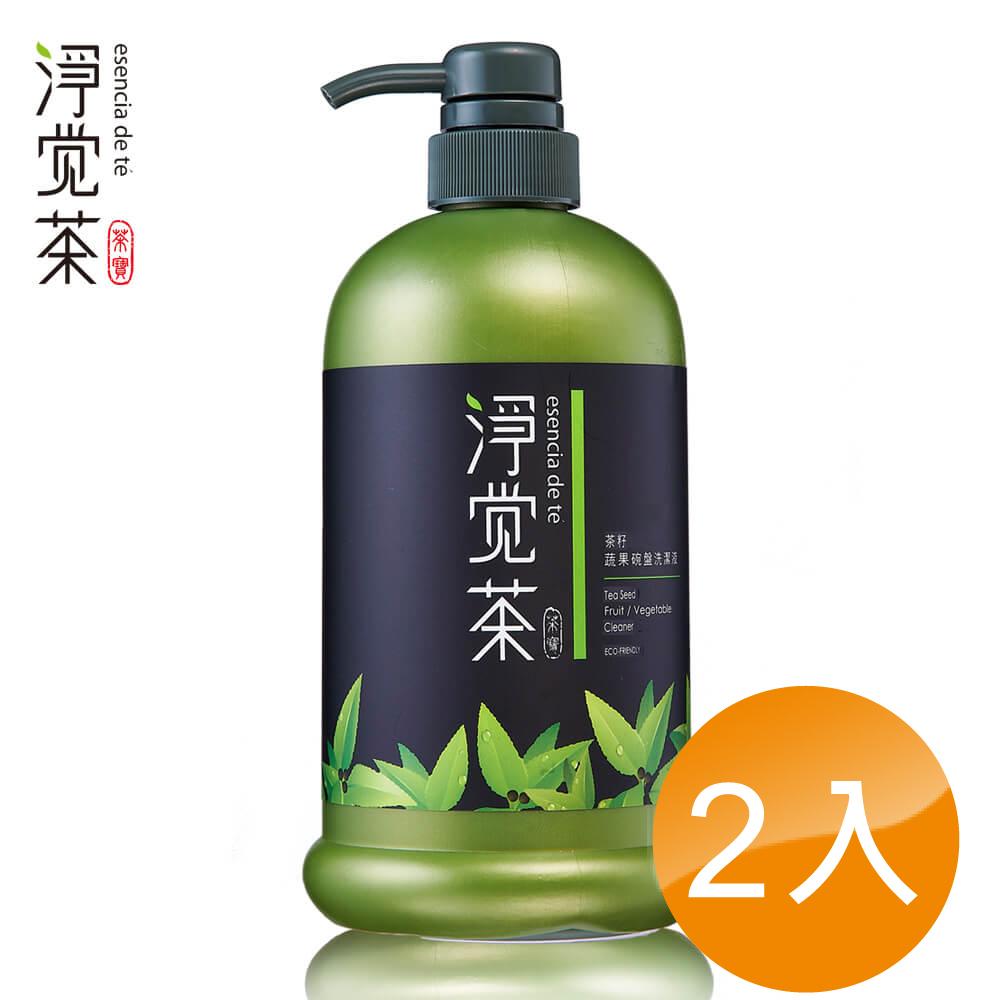茶寶 淨覺茶 茶籽碗盤蔬果洗潔液800ML(2入組)