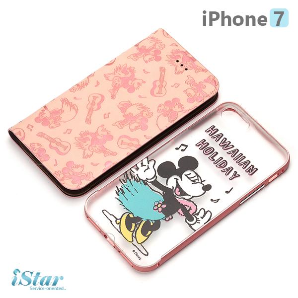 【日本 PGA-iJacket】 iPhone7 正版迪士尼 兩用鋁框透明背蓋/側翻式皮套系列 保護殼-米妮