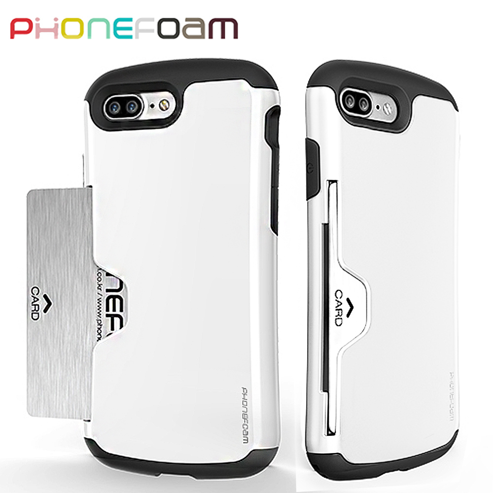 PhoneFoam Golf iPhone7 Plus 插卡式防震保護殼(白)