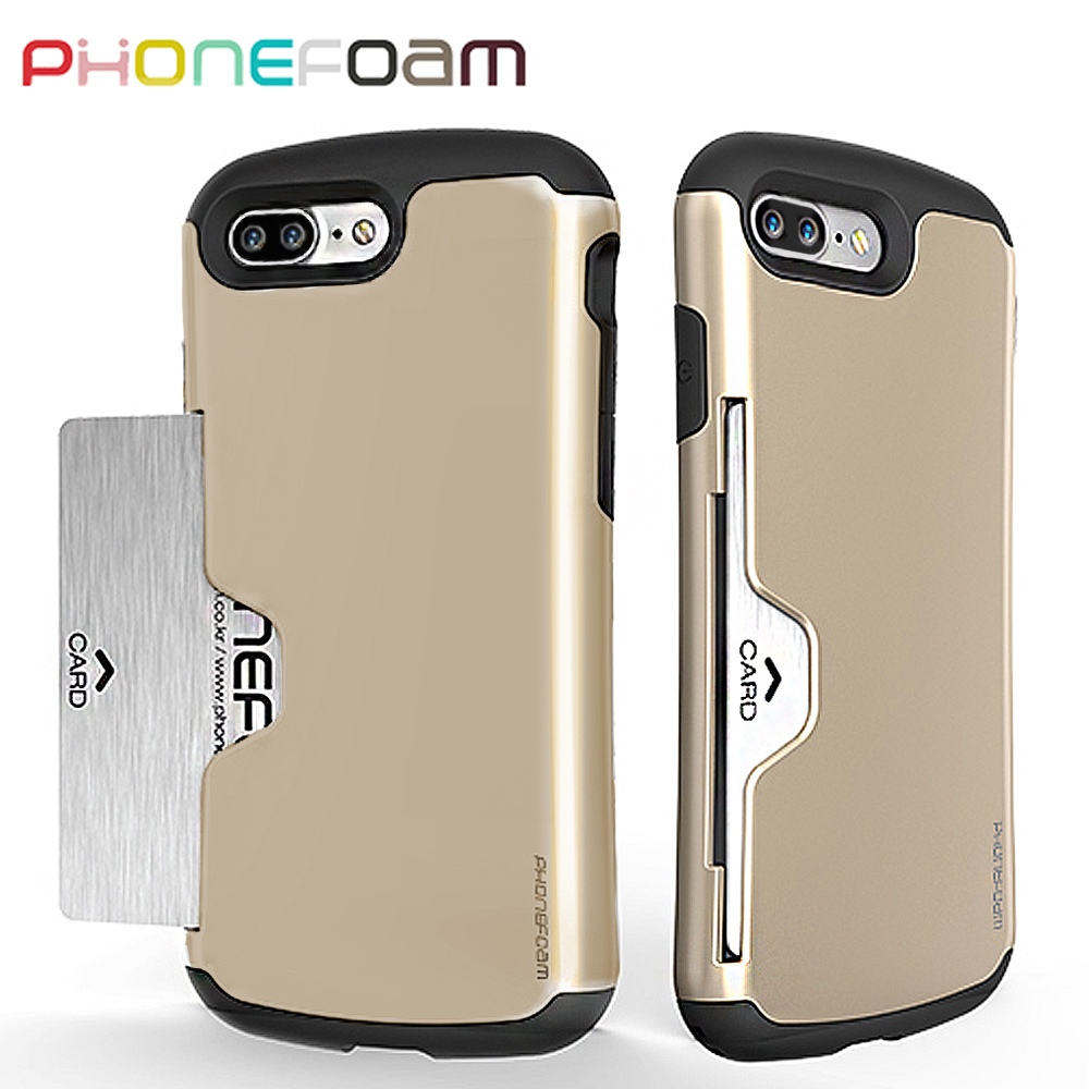 PhoneFoam Golf iPhone7 Plus 插卡式防震保護殼(金)