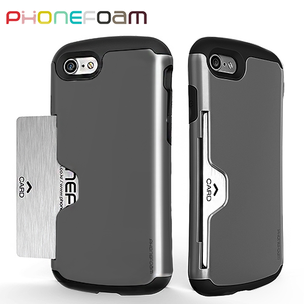 PhoneFoam Golf iPhone7 插卡式防震保護殼(灰)