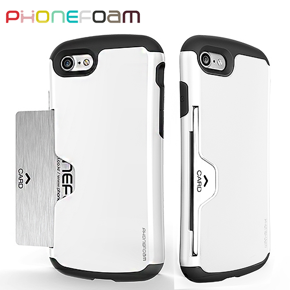 PhoneFoam Golf iPhone7 插卡式防震保護殼(白)