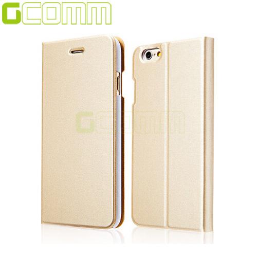 "GCOMM iPhone7 4.7"" Metalic Texture 金屬質感拉絲紋超纖皮套香檳金"