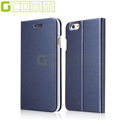 """GCOMM iPhone7 4.7"""" Metalic Texture 金屬質感拉絲紋超纖皮套優雅藍"""
