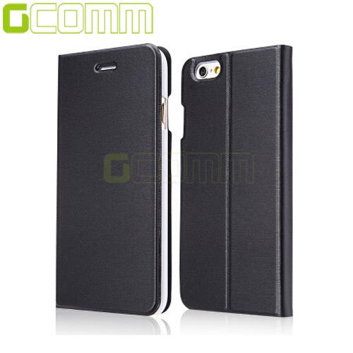 "GCOMM iPhone7 4.7"" Metalic Texture 金屬質感拉絲紋超纖皮套紳士黑"