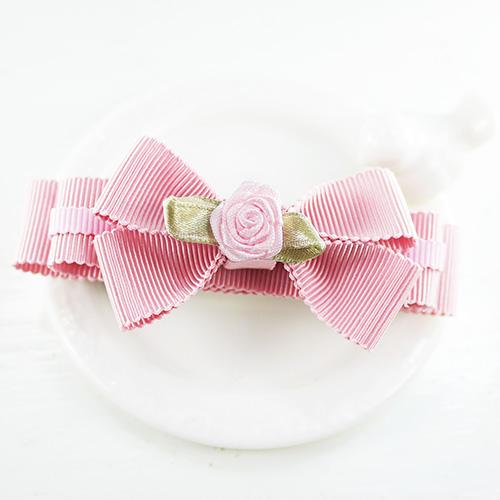 【PinkyPinky Boutique】甜美維多利亞風蝴蝶結髮夾 (粉紅)