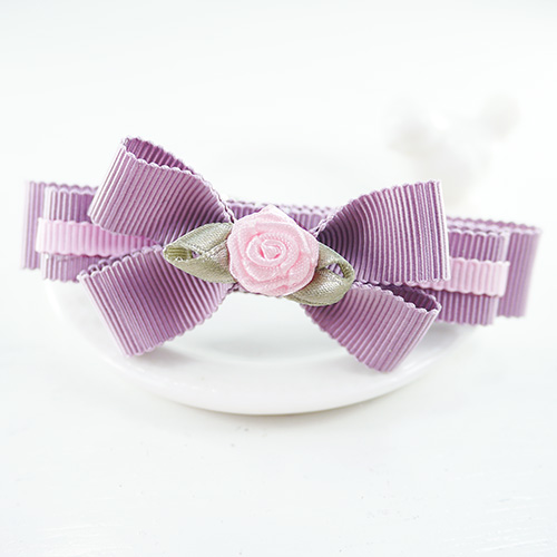 【PinkyPinky Boutique】甜美維多利亞風蝴蝶結髮夾 (紫羅蘭)