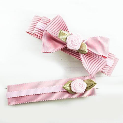【PinkyPinky Boutique】甜美維多利亞風蝴蝶結髮夾(2支組)