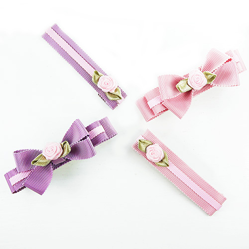 【PinkyPinky Boutique】甜美維多利亞風蝴蝶結髮夾(4支)