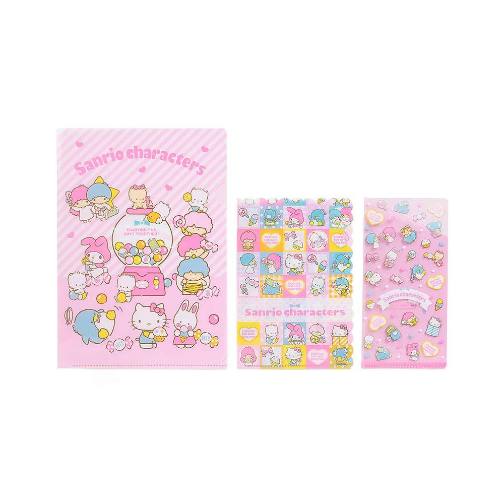 《Sanrio》SANRIO群星80'S甜心系列文件夾組(一組3個入)