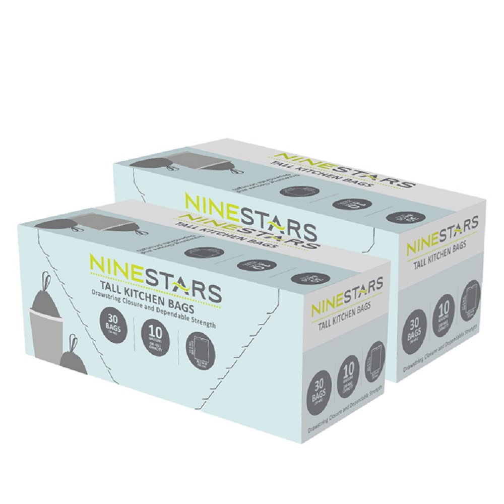 美國NINESTARS專業收納垃圾袋40L-超值二入組