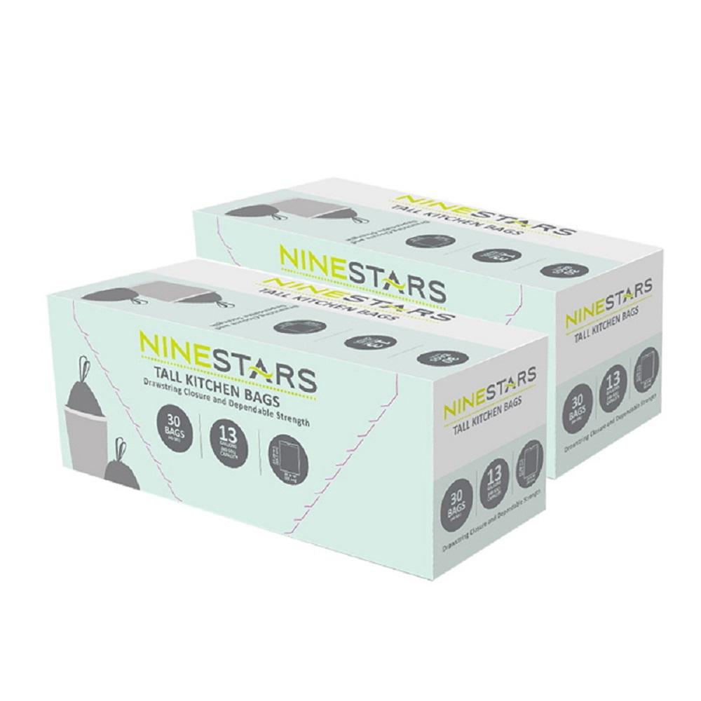 美國NINESTARS專業收納垃圾袋50L-超值二入組