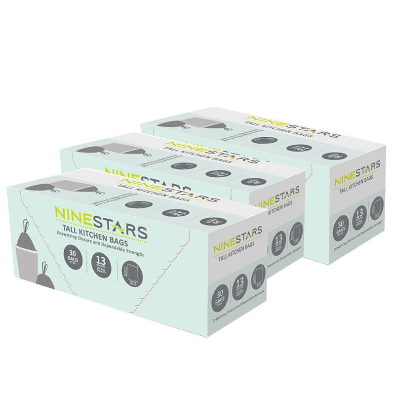 美國NINESTARS專業收納垃圾袋50L-超值三入組