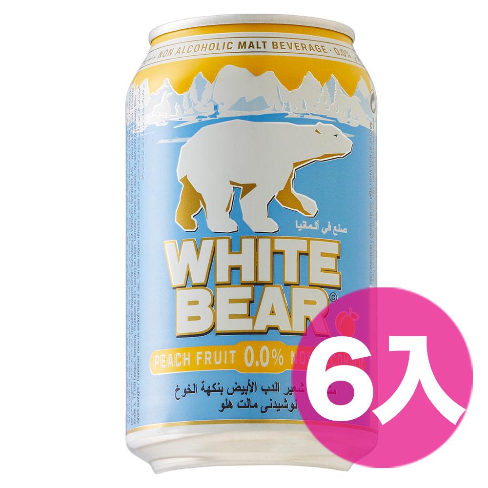 德國熊水蜜桃白麥汁罐330ml*6入