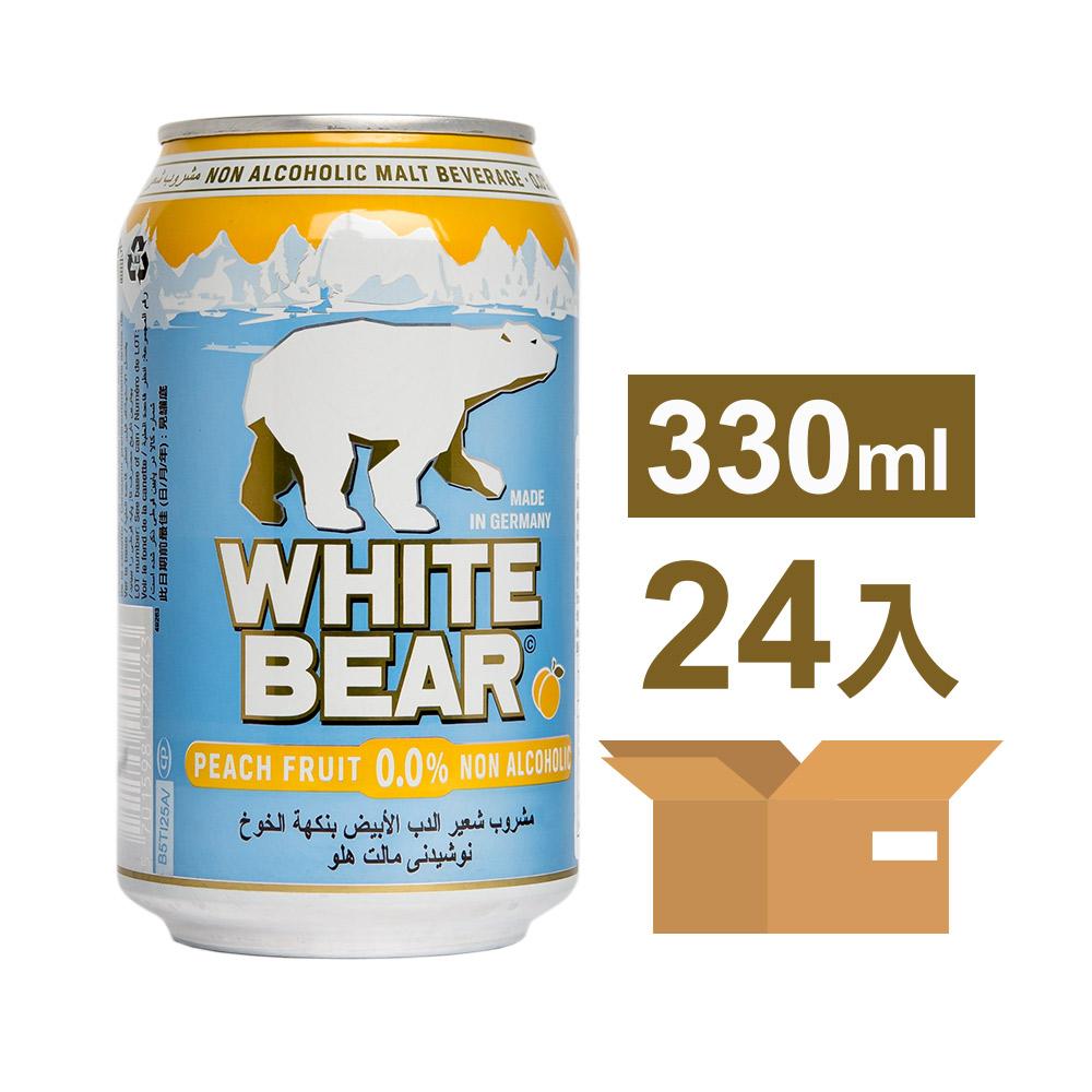 德國熊水蜜桃白麥汁罐330ml*24入