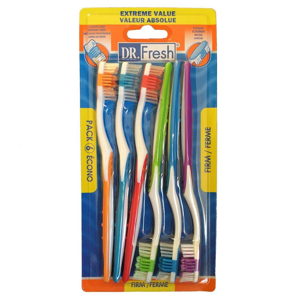 【美國Dr. Fresh】山形護齦牙刷6入