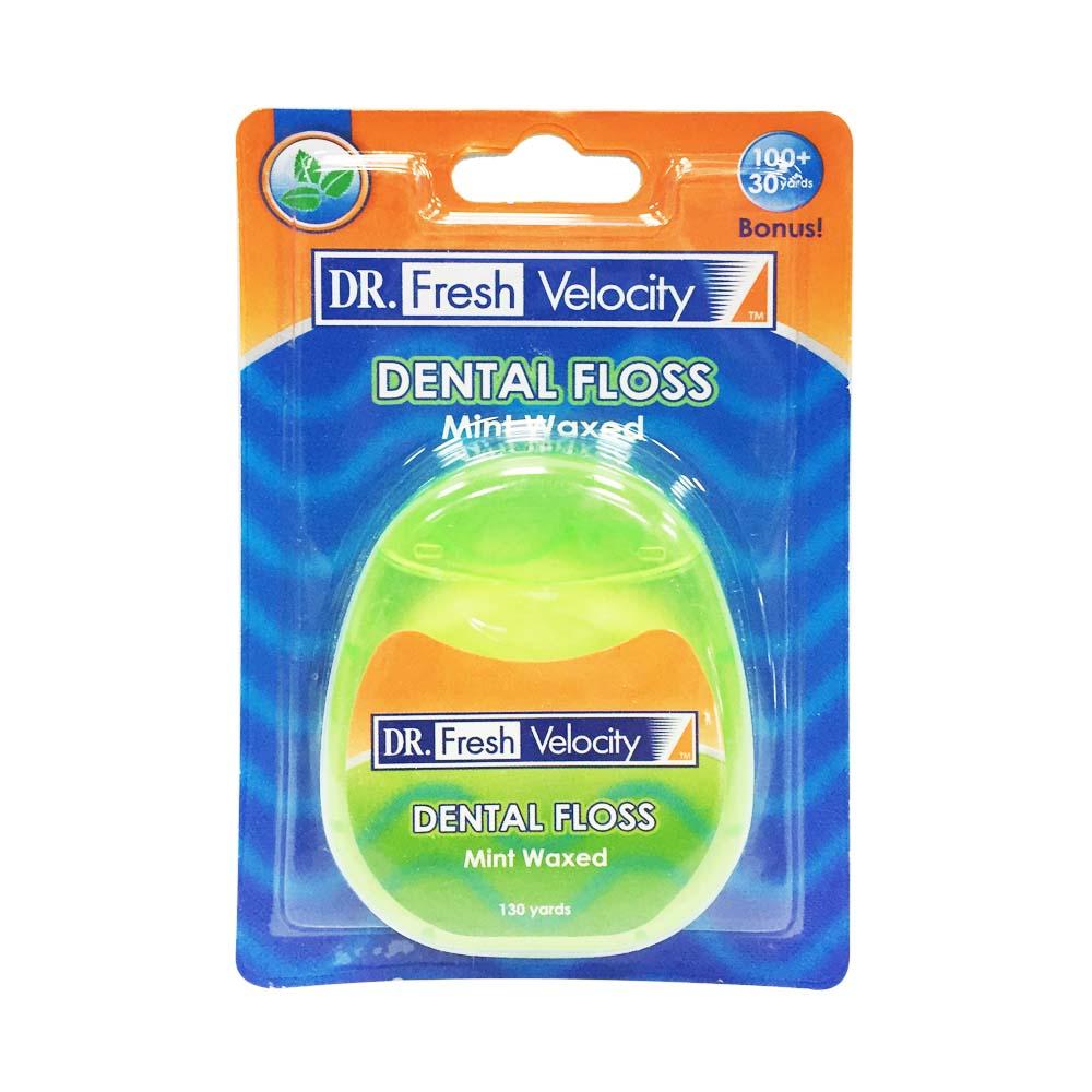 【美國Dr. Fresh】薄荷含蠟潔牙線(130碼/119M)
