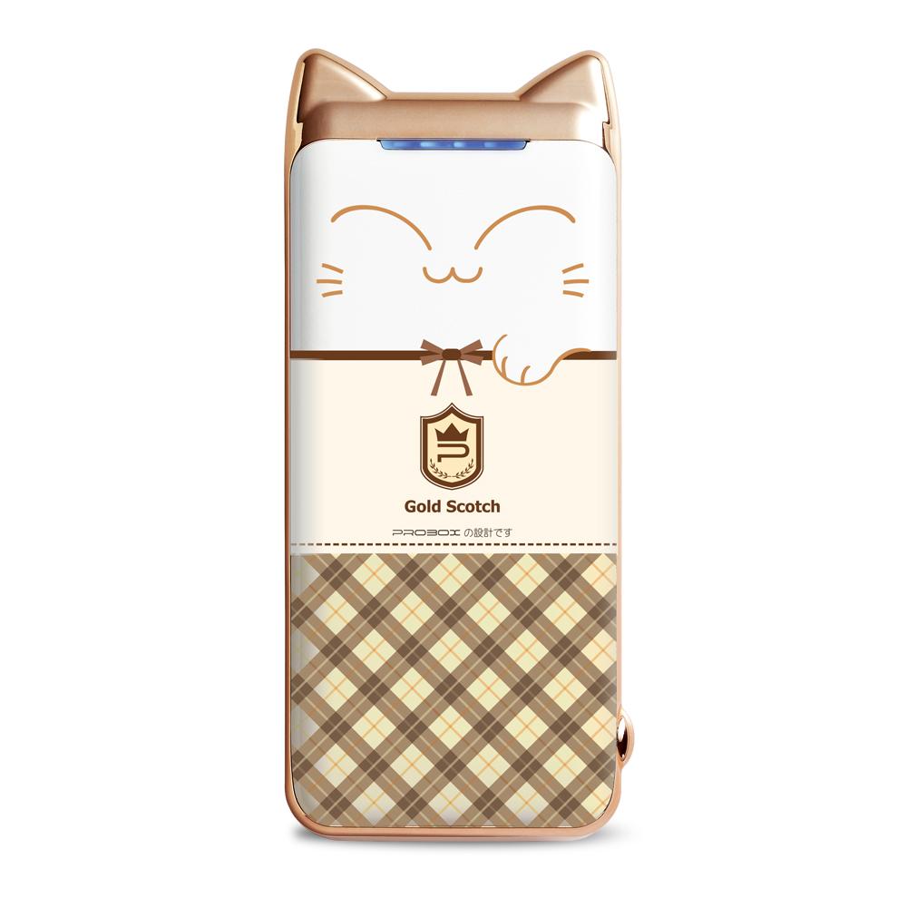 PROBOX Panasonic電芯 蘇格蘭貓限定款 6700mAh 行動電源咖啡色
