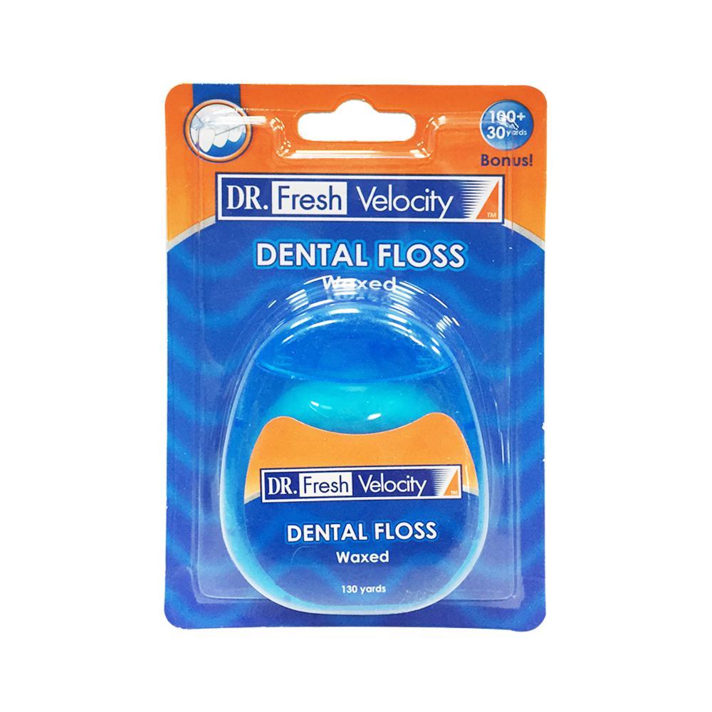 【美國Dr. Fresh】原味含蠟潔牙線(130碼/119M)