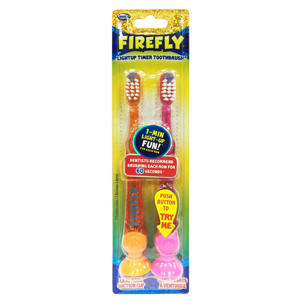 【美國Dr. Fresh】Firefly計時發光兒童牙刷2入