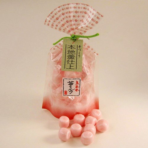 日本【岩井製菓】飴果子-草莓牛奶飴