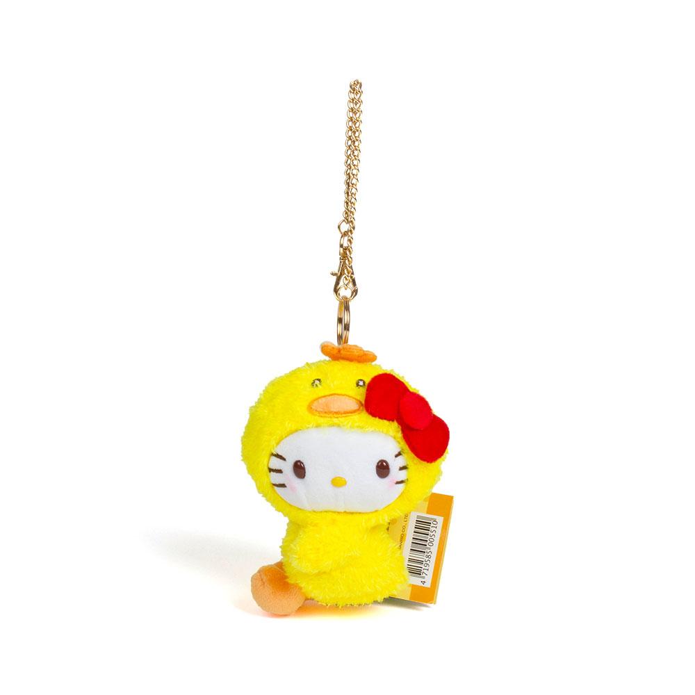 《Sanrio》HELLO KITTY變裝小雞系列3吋側座絨毛玩偶吊鍊