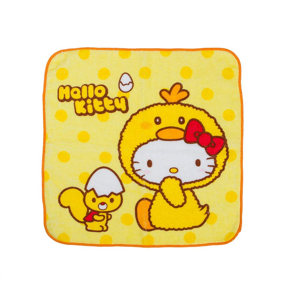 《Sanrio》HELLO KITTY變裝小雞系列純棉方巾