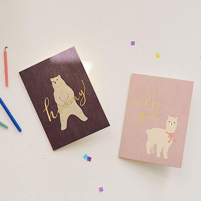 Dailylike 森林物語卡片信封組~03 北極熊
