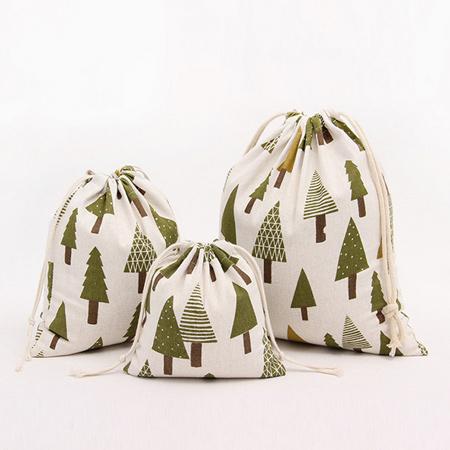 AmaZing 萬物皆可裝~環保束口袋 三件組  聖誕樹