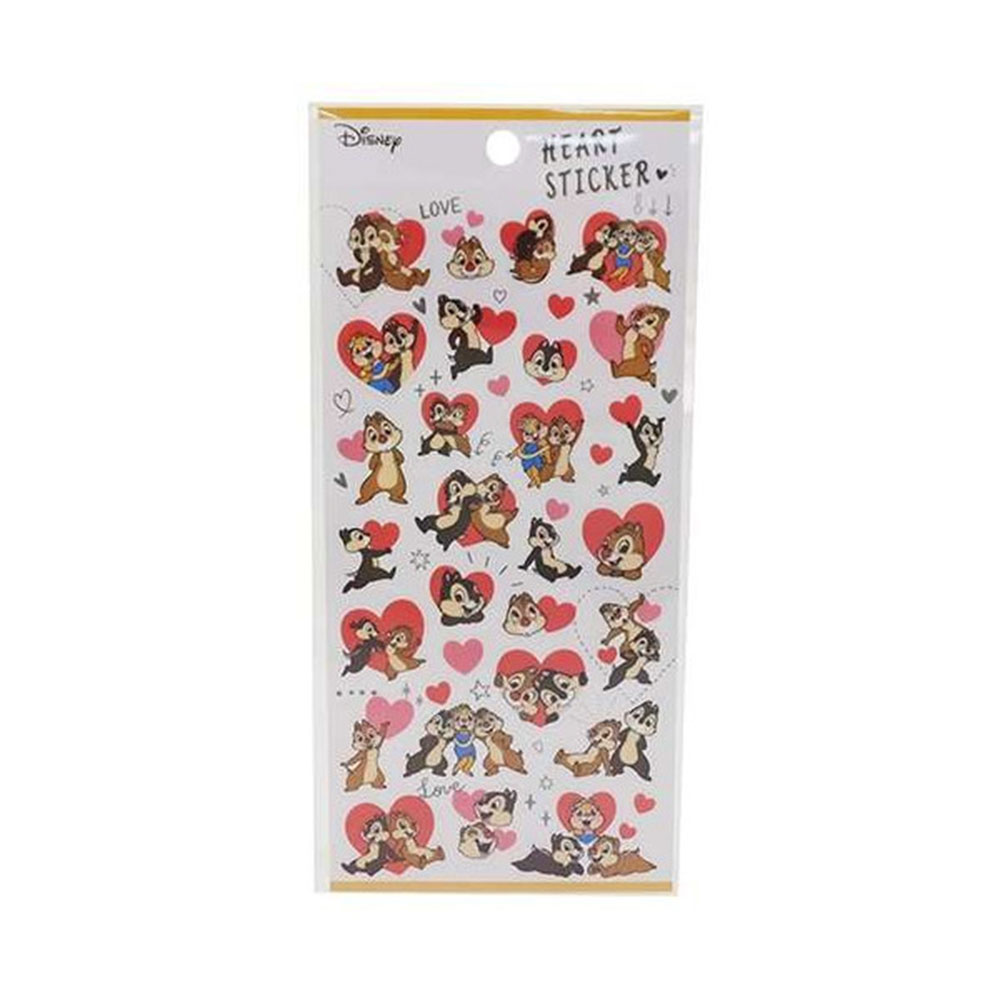 《KAMIO》迪士尼俏皮愛心裝飾貼紙(奇奇蒂蒂)