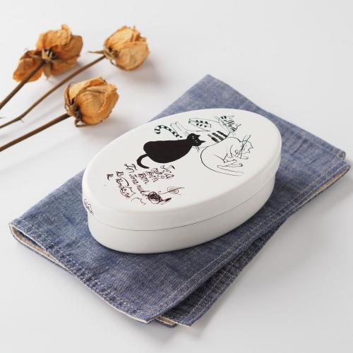 【倉敷意匠】虎斑貓BonBon琺瑯便當盒430ml_B