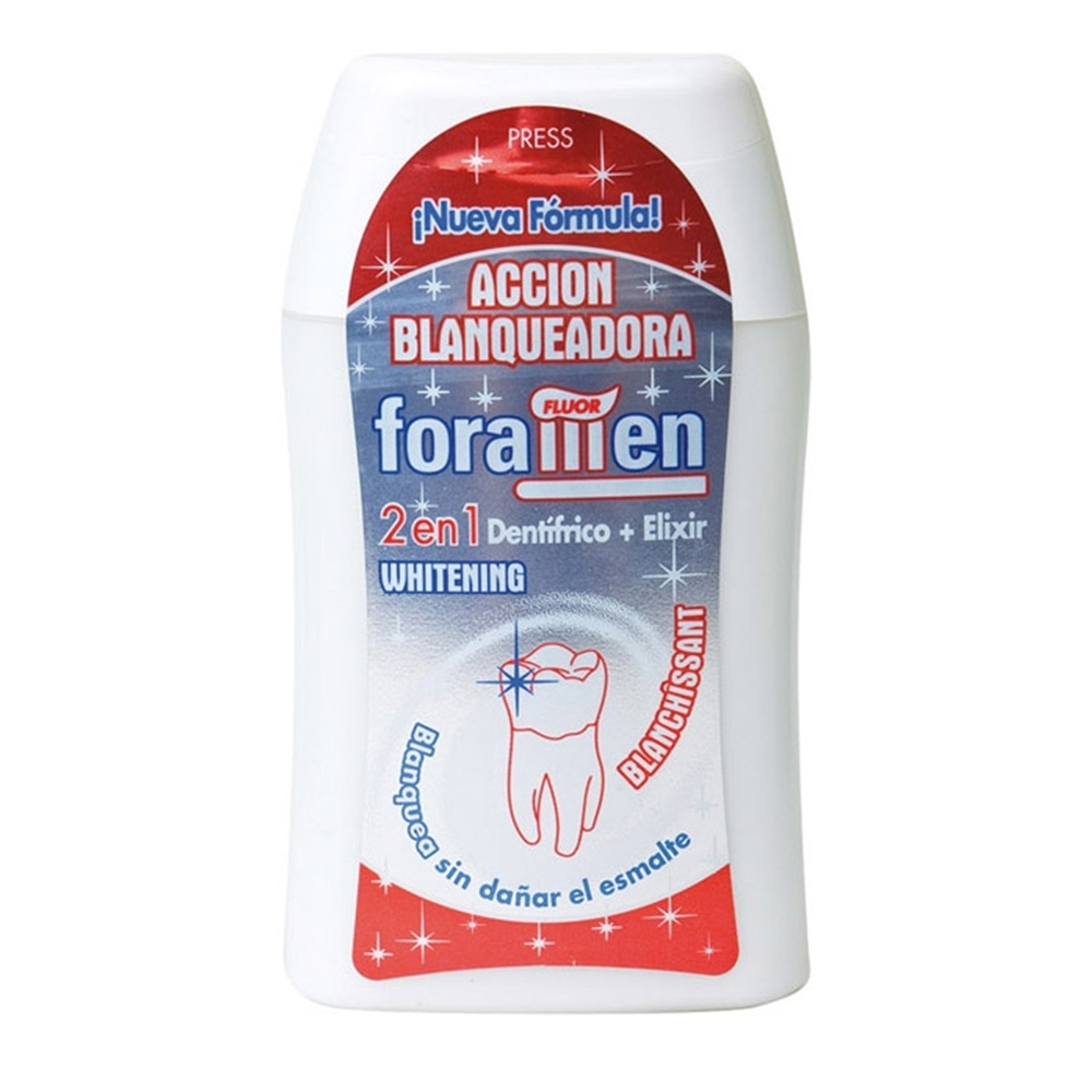 【西班牙Foramen】2合1濃縮牙膏漱口水100ml/120g(美 白)