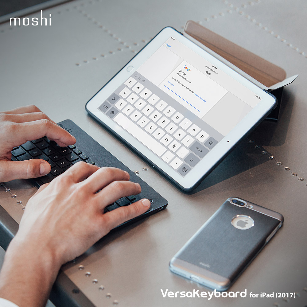 Moshi VersaKeyboard for iPad  2017  多角度藍牙鍵盤保護