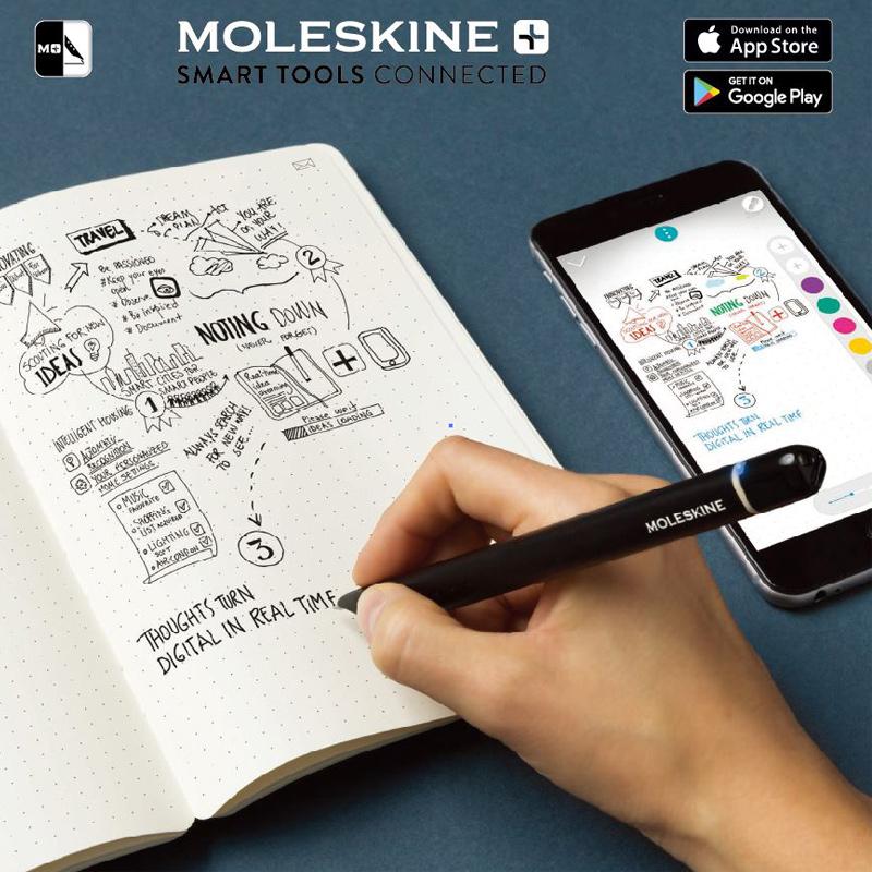MOLESKINE Smart Writing Set 智慧型筆記本組-黑