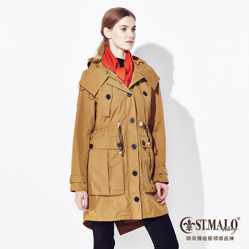 【ST.MALO】復刻蓄暖派克大衣-1558WC-S金沙棕