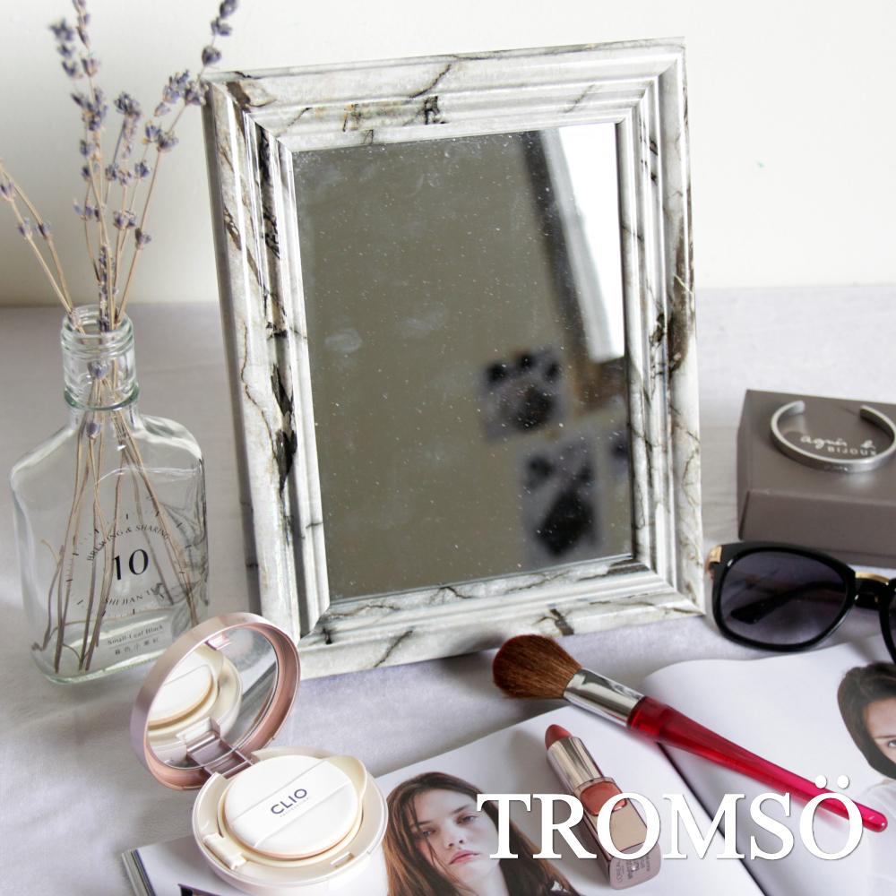 TROMSO巴黎典雅大理石紋桌立化妝鏡~6X8款