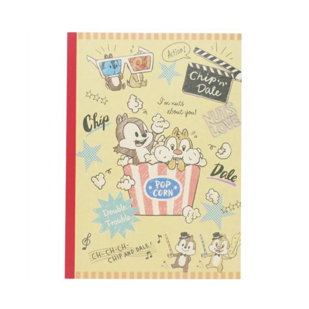 《KAMIO》迪士尼奇奇蒂蒂B5平裝筆記本(Q版爆米花)