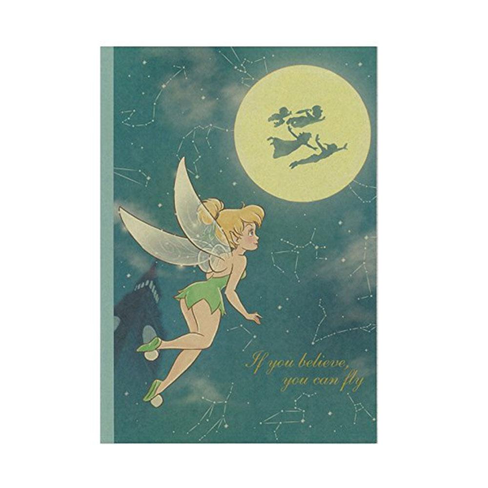 ~sun~star~迪士尼公主靜謐夜空系列B5膠裝方格筆記本 奇妙仙子小仙女