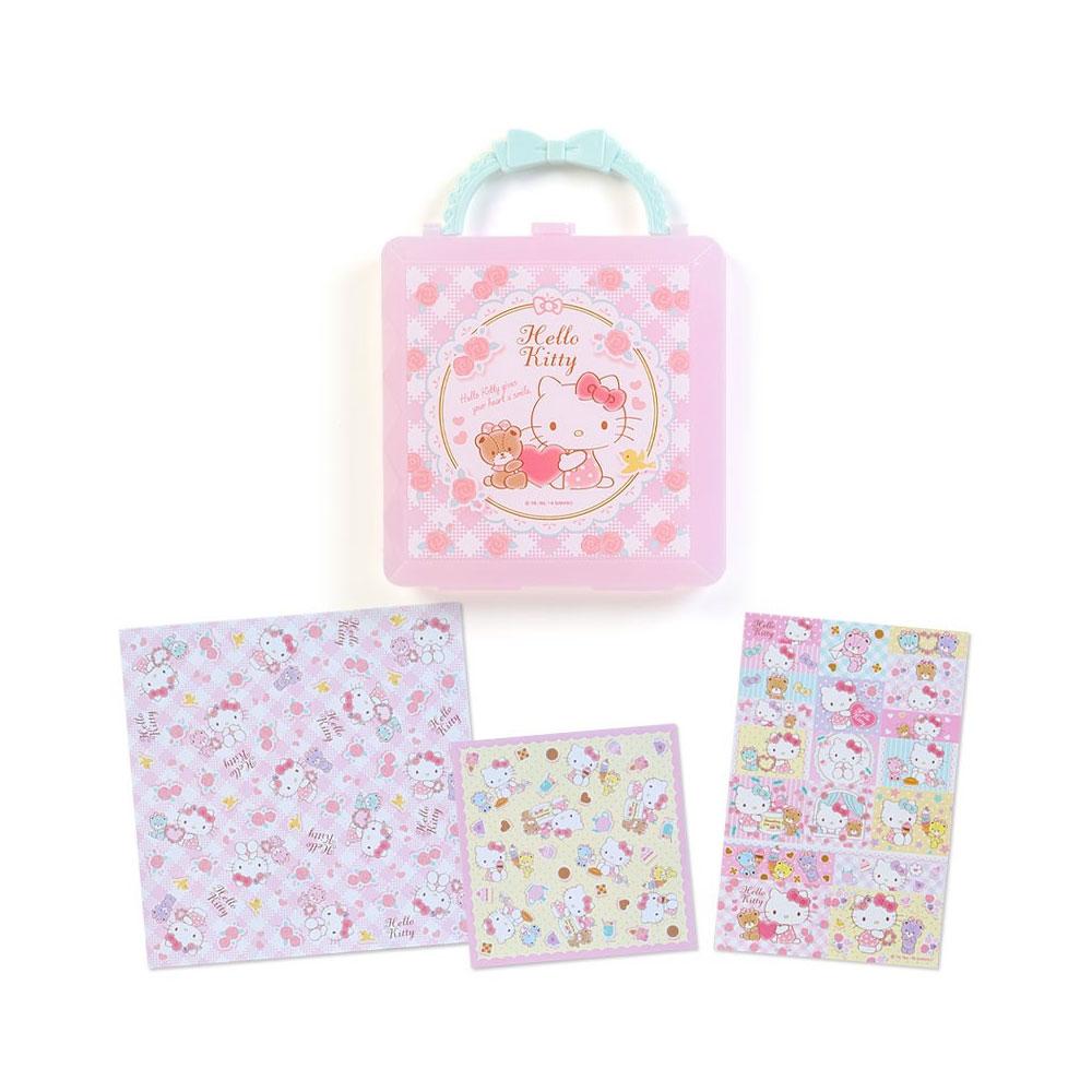 ~Sanrio~HELLO KITTY盒裝便條色紙組 愛心小熊