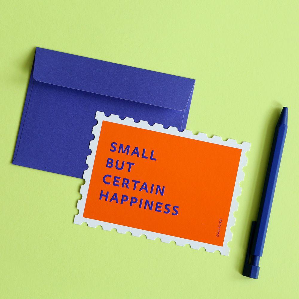 Dailylike 郵票 卡片信封組~04 快樂